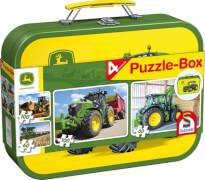 Schmidt Puzzle-Box im Metallkoffer 56497 John Deere 2x60, 2x100 Teile, ab 5 Jahre